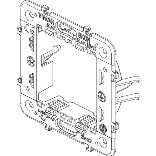 Rama suport 2 module pentru doza zidarie VIMAR EIKON
